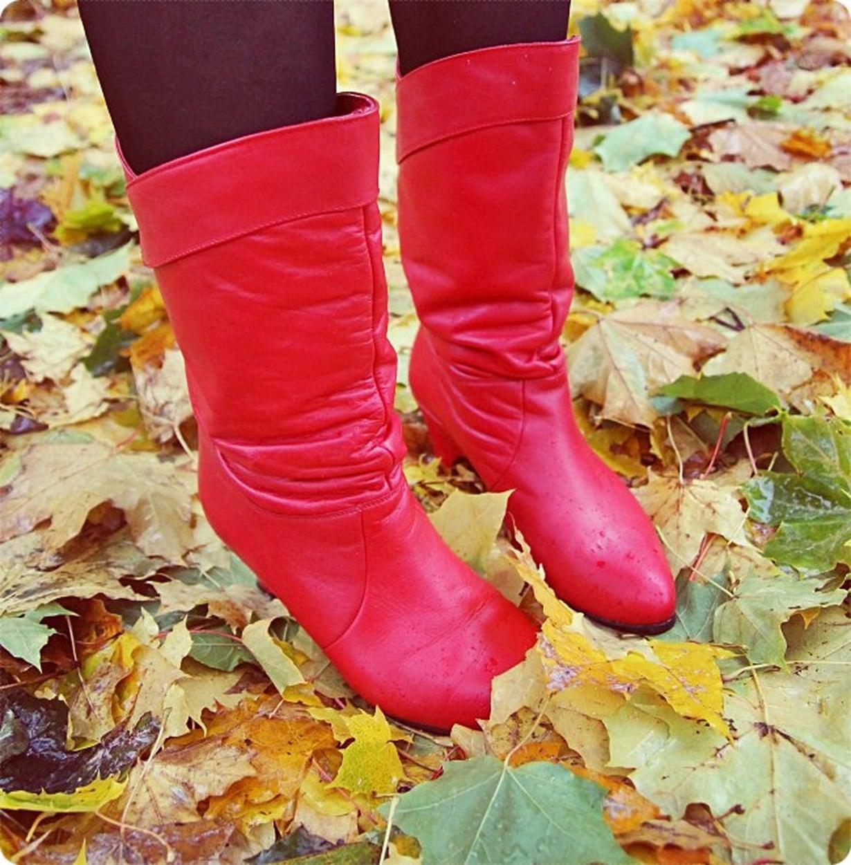 vintage saappaat punainen