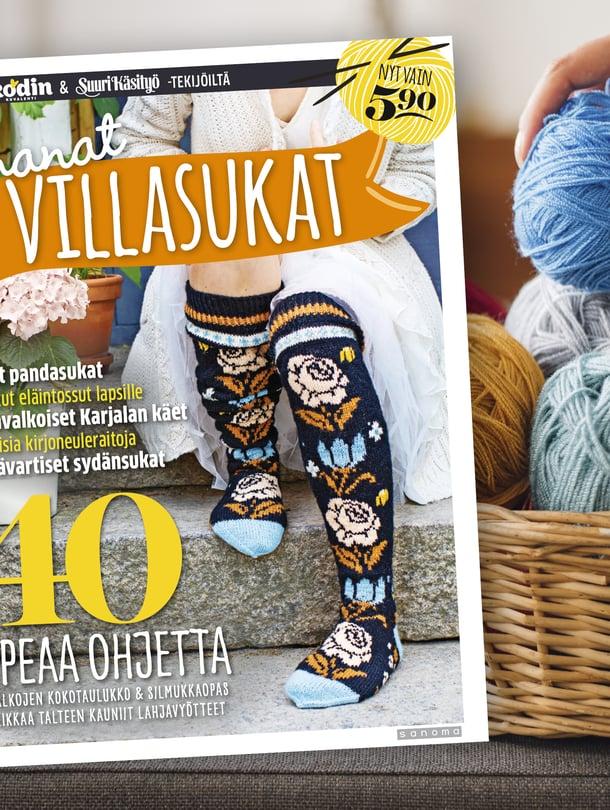 Villasukkien rakastajan kannattaa nyt poiketa kioskilla tai kaupassa. Ihana sukkajulkaisu on nyt myynnissä!