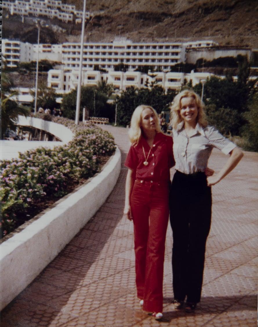 """""""Minä ja Armi Gran Canarilla vuonna 1978.Olimme sydänystäviä ja samanlaisia pelleilijöitä."""""""
