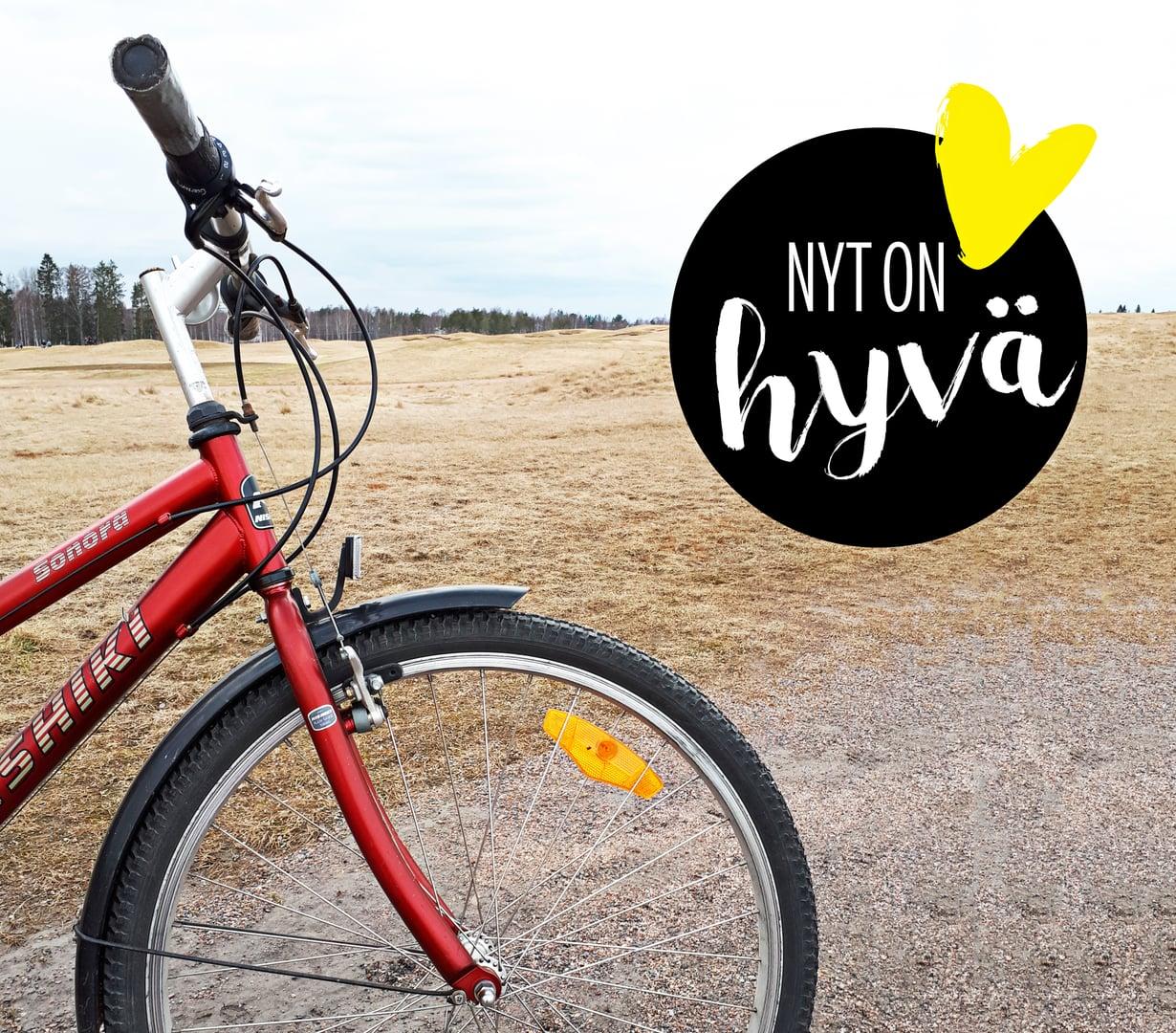 Parasta juuri nyt: uusi kevät ja vanha pyörä.