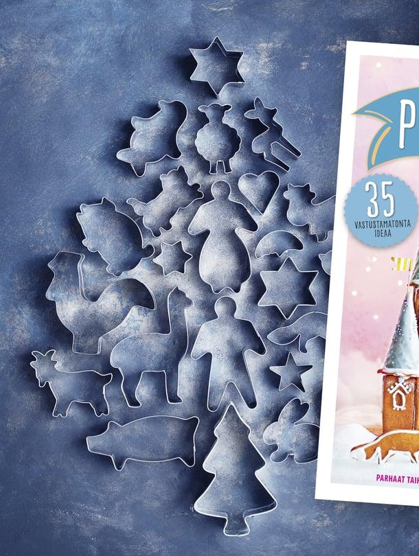 Onneksi piparkakkuja ehtii leipoa monta kertaa ennen joulua! Mainiona oppaana toimii Kodin Kuvalehden uusi Piparkakku-julkaisu.
