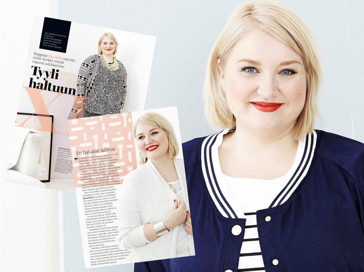 Bloggaaja Elsa Heiko esitteli kevään muotia Kodin Kuvalehden numerossa 9/2015.