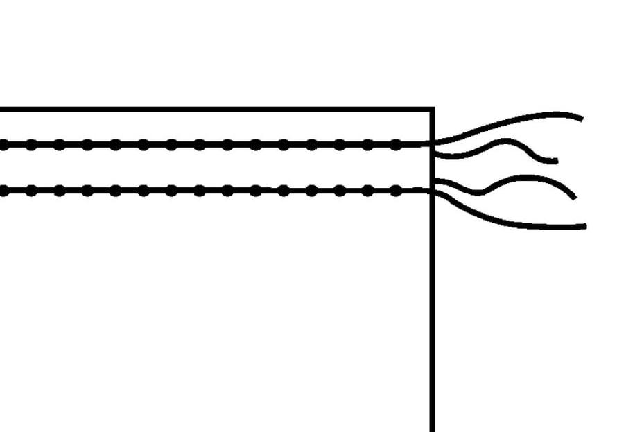 Säädä ompelukoneen tikin pituus pitkäksi ja ylälanka hieman tavallista kireämmäksi.Ompele ensimmäinen poimulanka 3-4 mm tulevan sauman paikan alapuolelle. Ompele toinen poimulanka saumanvaraan 3-4 mm sauman yläpuolelle.