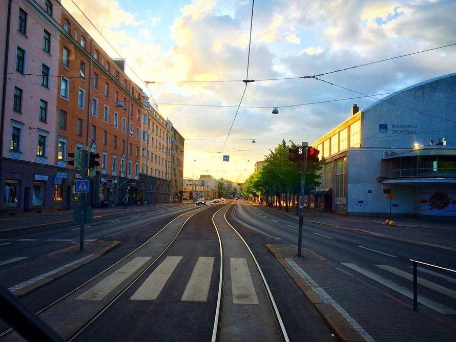 Toukokuun loppu, Helsinki.