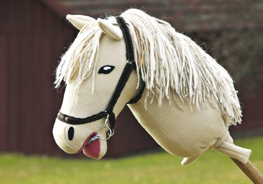 Keppihevosella on hienot riimut ja näyttävä harja!