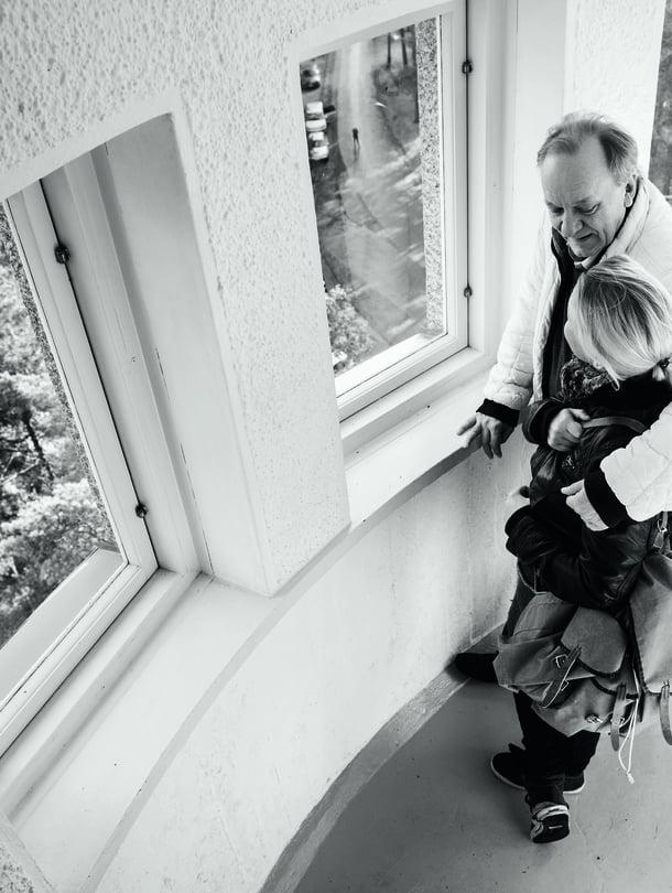 Esko ja Susanna Roine  pistäytyivät Pyynikin näkötorniin. Viime talvena he näyttelevät ensimmäistä kertaa yhdessä.