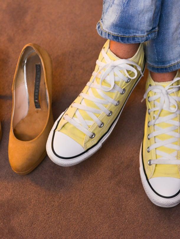 On täysin normaalia, että kenkä alkaa iän myötä puristaa.