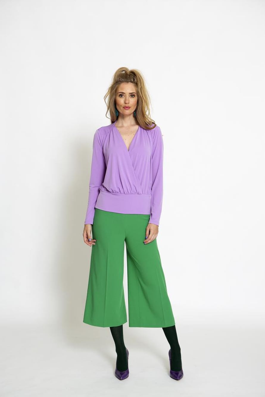 5 Vihreät culottes-housut