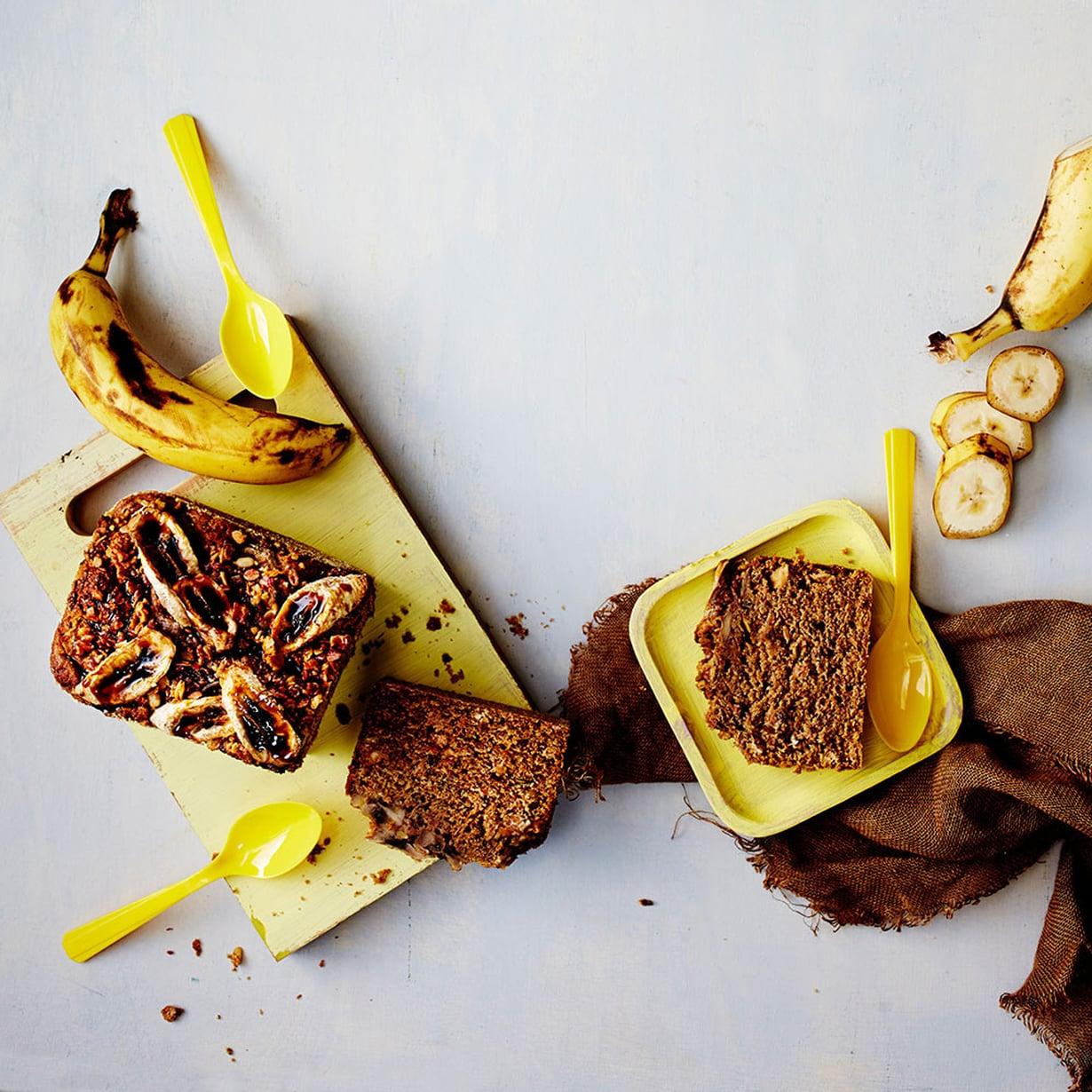 Banaanikakku on kelpo aamupala ja brunssille se sopii aina.