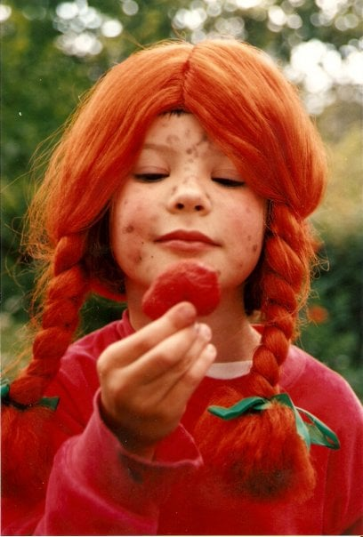 Pienenä rakastin Peppi-peruukkia.
