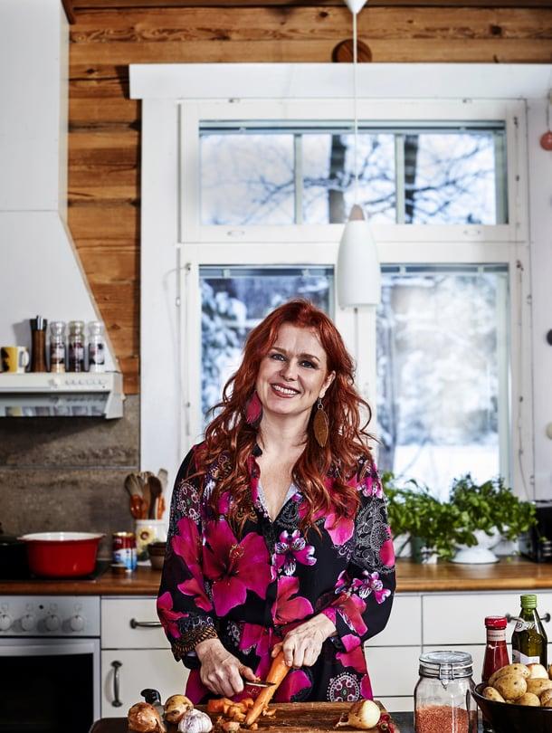 Kirsi Ylijoki pitää simppelistä, aidosta kasvisruuasta.