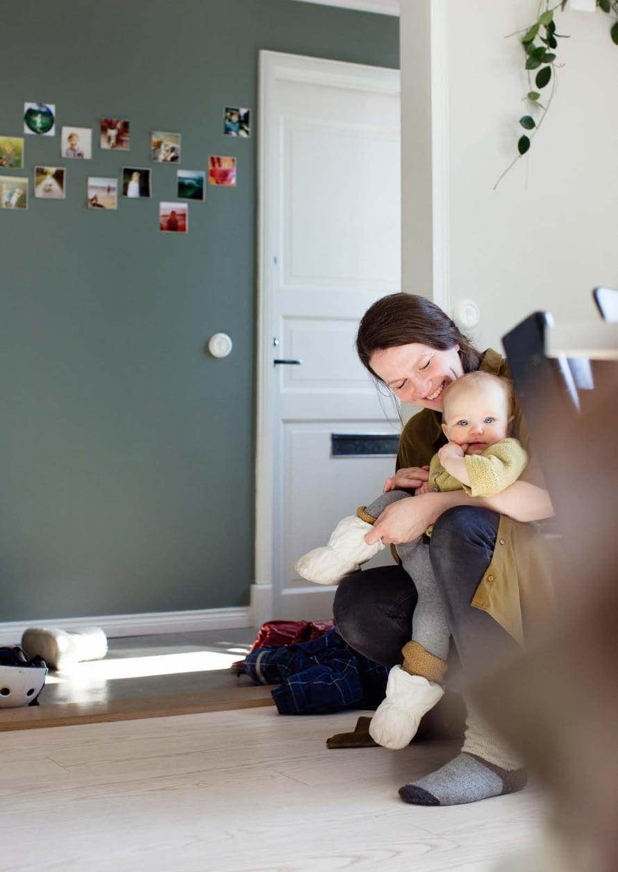 """""""Mildan syntymä tasapainotti kaoottista vaihetta elämässämme"""", sanoo Maria Katinas."""