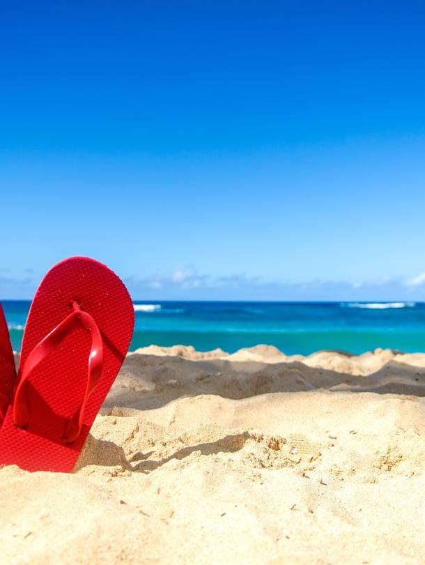 Siihen jäivät sandaalit, kun piti taas juosta vessaan. Loman viettäisi mieluimmin ilman vatsatautia.
