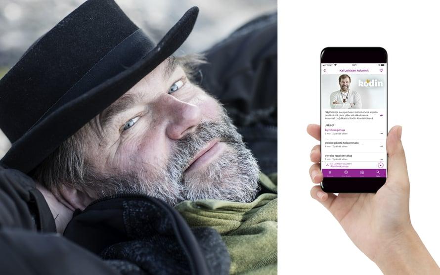 Voit nyt kuunnella näyttelijä Kai Lehtisen kolumneja hänen itsensä lukemana.