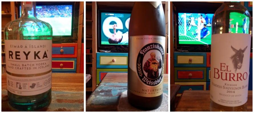 Viime EM-kisoissa innostuin kaivamaan joka matsiin sopivan pullon kaapista: tyhjä matkamuistovodka Islannille, saksalainen olut, espanjalainen viini Espanjalle.