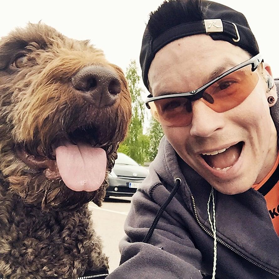 Viljo-koira on Antin paras lenkkikaveri.