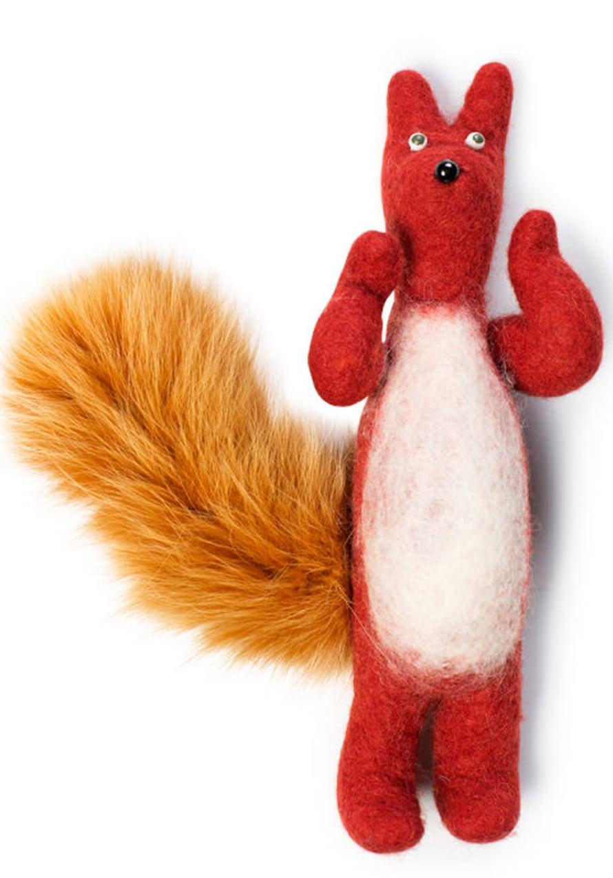 Orava on huovutettu pojalle, kun hän oli pieni. Nyt melkein aikuinen poika sanoo kohteliaasti, että äiti, ei sinun tarvitse tehdä minulle mitään.