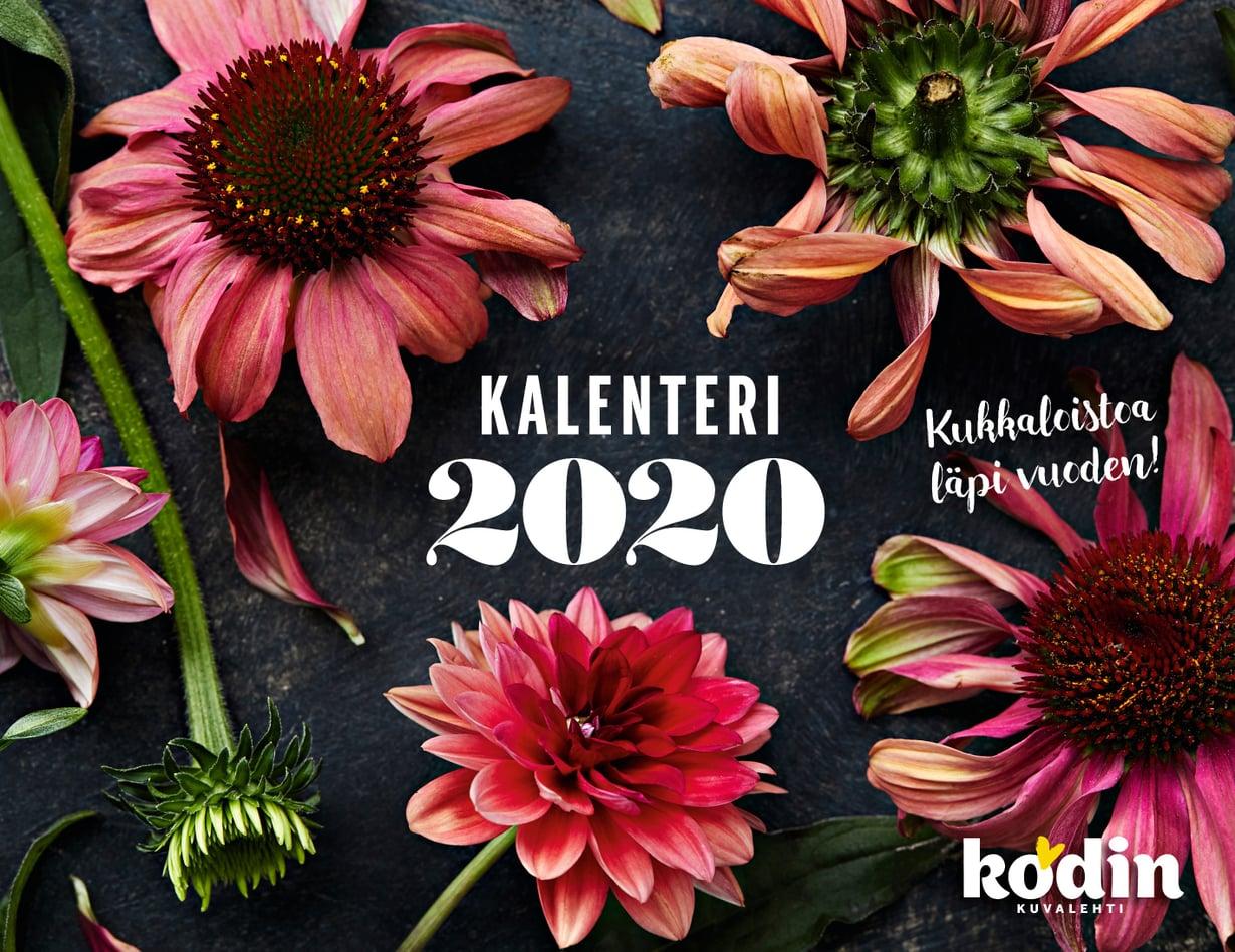 Kodin Kuvalehden tilaajat saavat kauniin seinäkalenterin vuoden viimeisen numeron välissä.