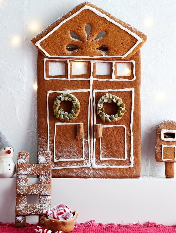 Ihana idea! Piparinen tonttuovi tuo joulun.