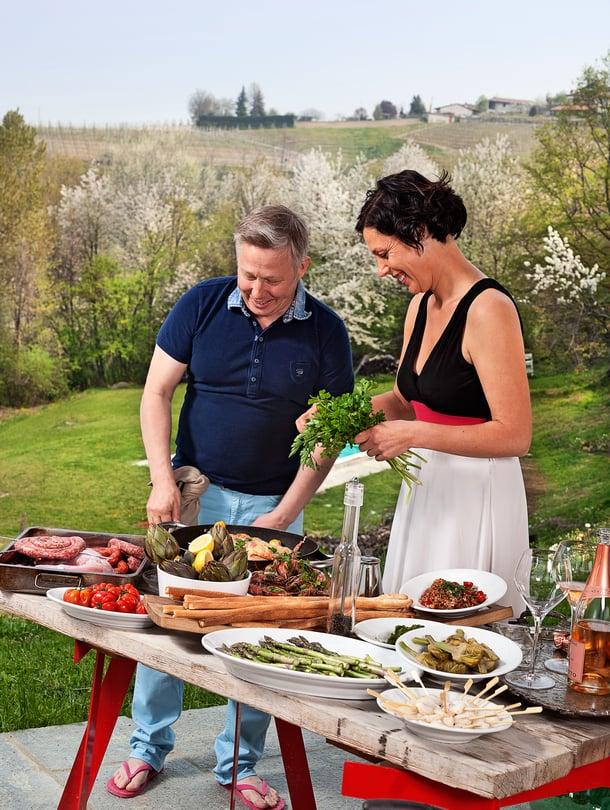 Jyrki ja Riikka Sukula korvaavat italialaiseen tapaan kanan usein kanilla.