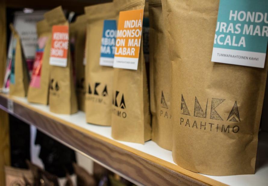 Kouvolalaisen Inkapaahtimon käsityönä paahdettuja kahveja