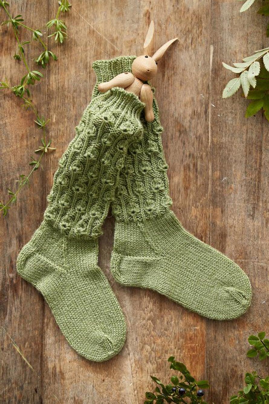 37 Vihreät lasten sukat