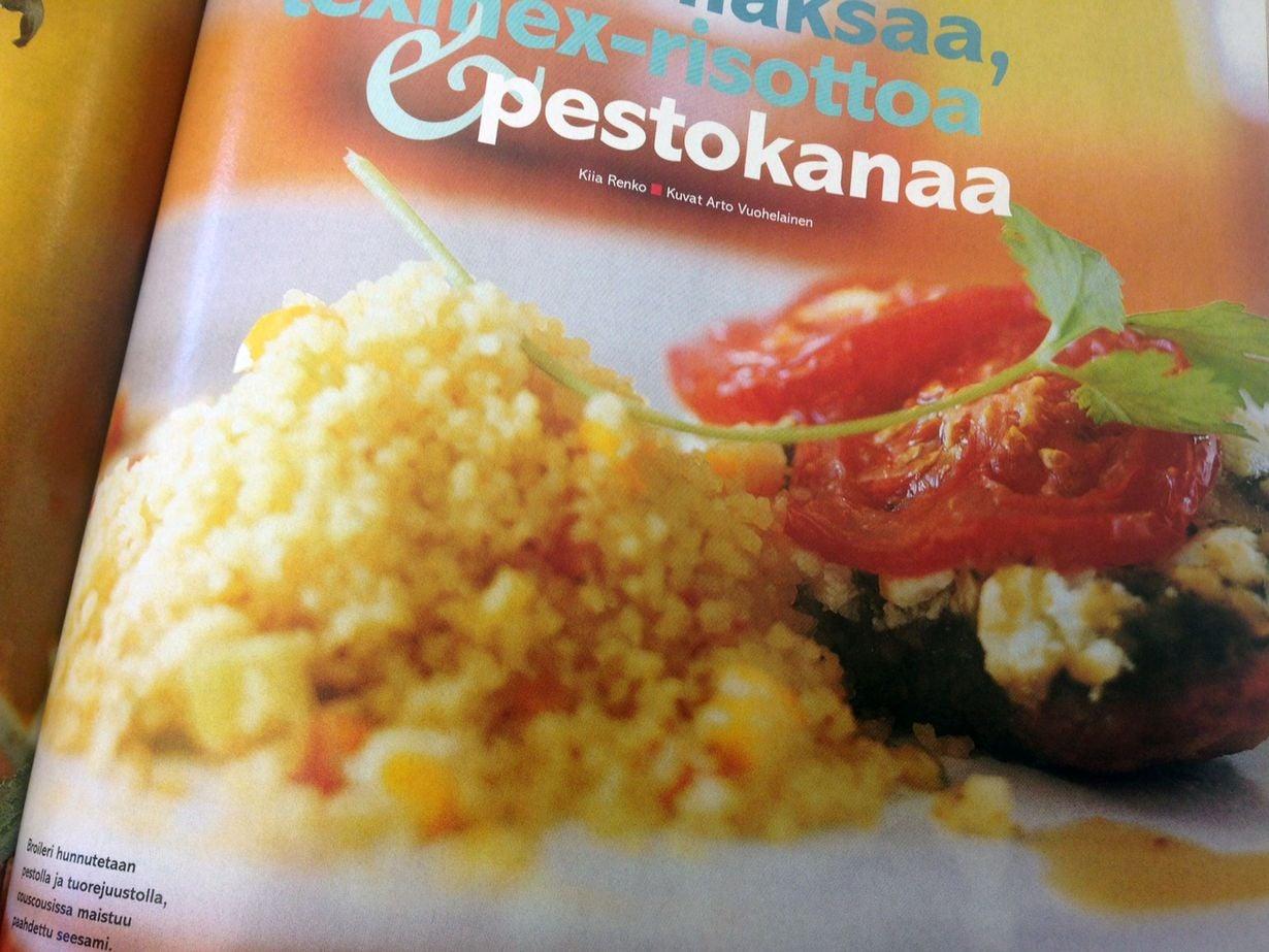 Pestokanan resepti on julkaistu Kodin Kuvalehden numerossa 21/2003.