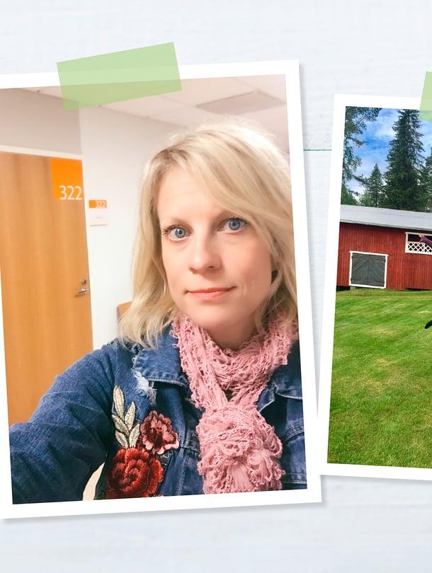 Laura Voutilainen jännitti silmälääkäriä ja pääsi päivän päätteeksi mökille.