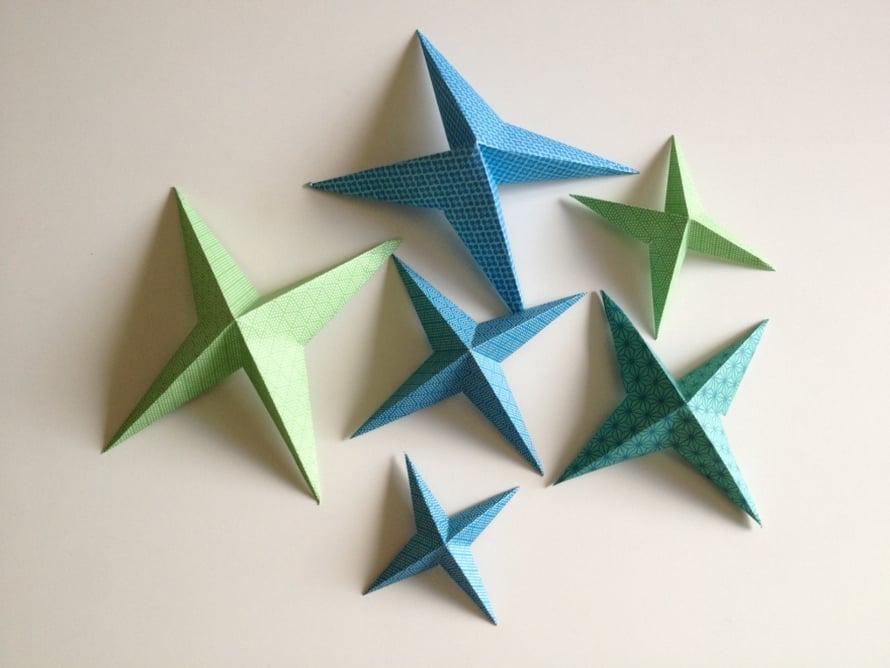 Tee erikokoisia tähtiä.