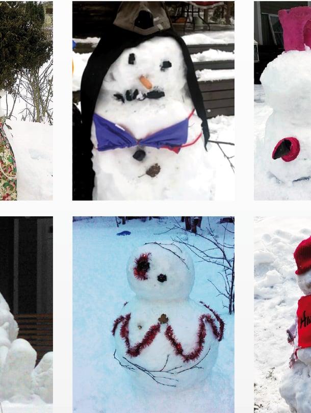 Nykyisin lumiukotkin pukeutuvat hyvin tyylikkäästi.
