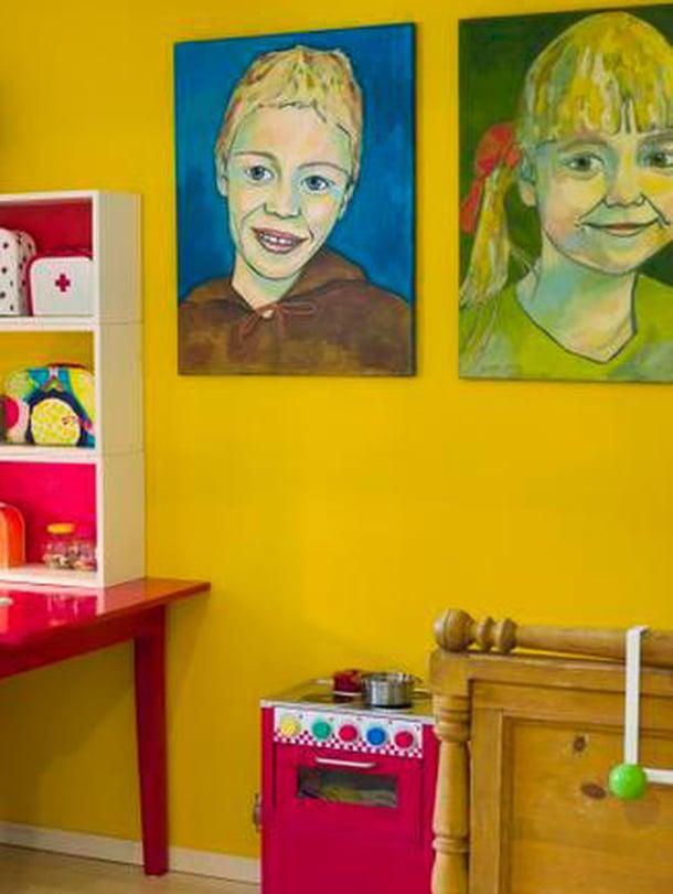 Siiri valitsi itse huoneensa värit.