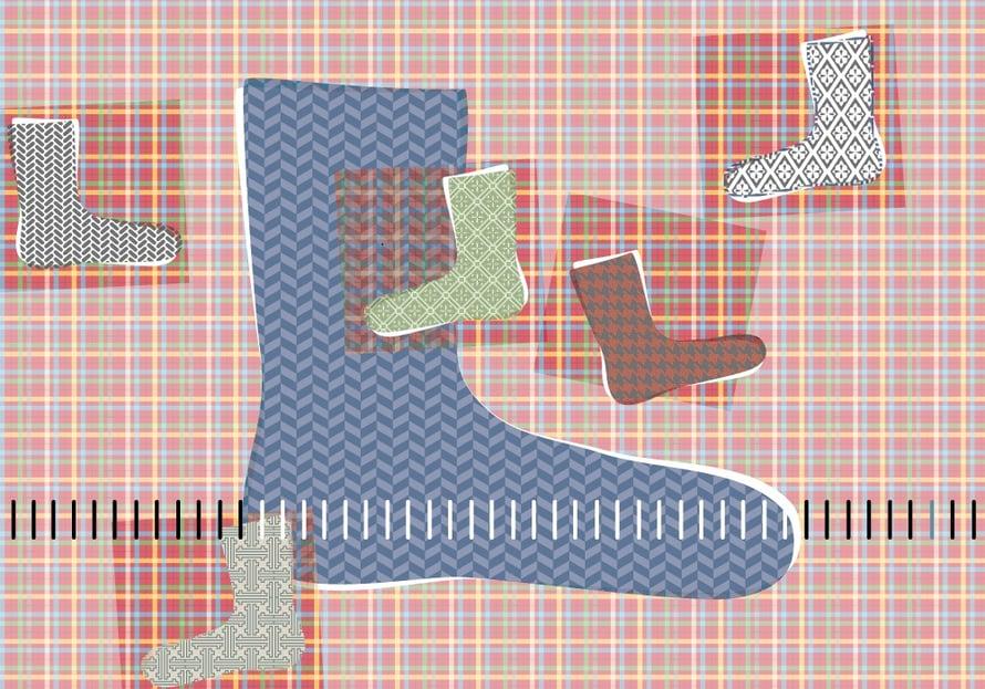 Jalkojen kokotaulukon avulla onnistut neulomaan villasukan terästä sopivan mittaisen.