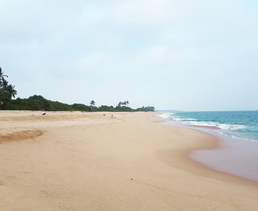 Etelässä rannat ovat hiljaisia ja puhtaita.