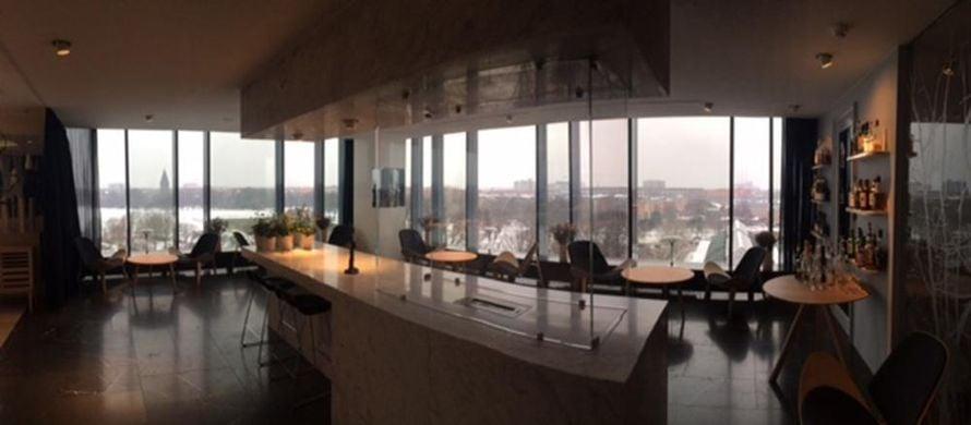 Ravintolasta on 8. kerroksen näkymät.