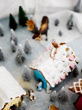Lumisen ja kinoksisen katon saat, kun pursotat paljon pikeeriä.