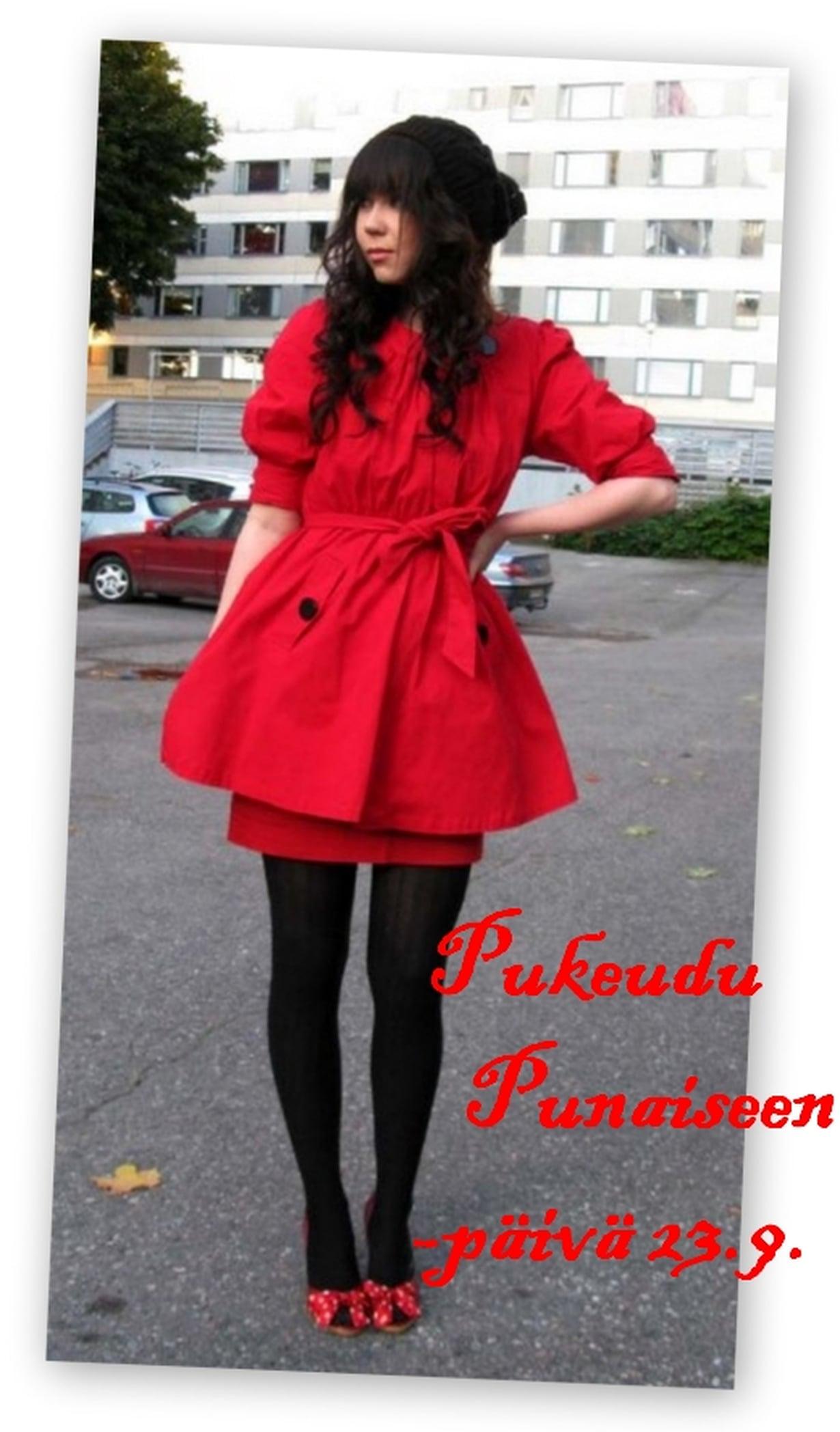 pukeudu punaiseen päivä