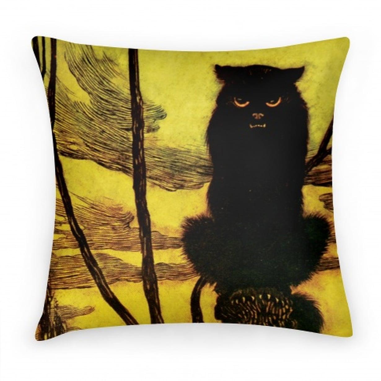 cat-black-cat-pillow