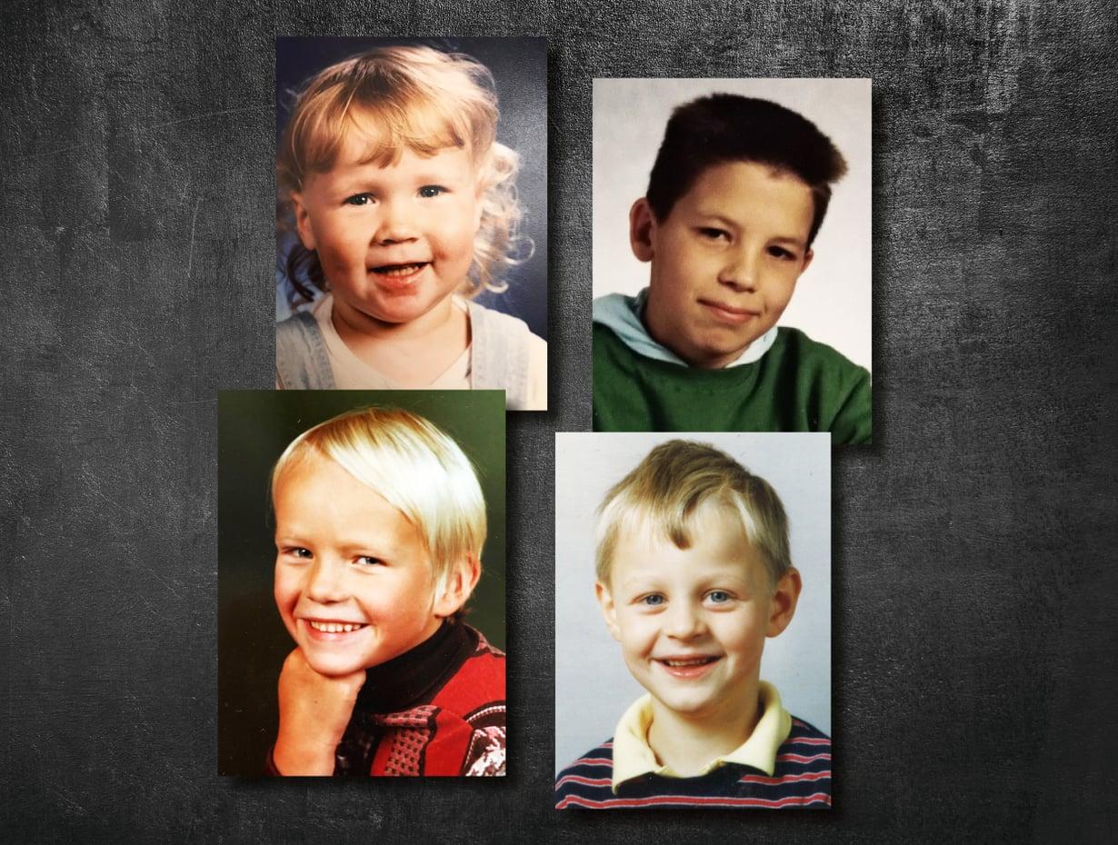 Näissä kuvissa Joonasta, Markoa, Samia ja Karia hymyilytti. Sitten tapahtui jotakin. Heistä tuli rikollisia.