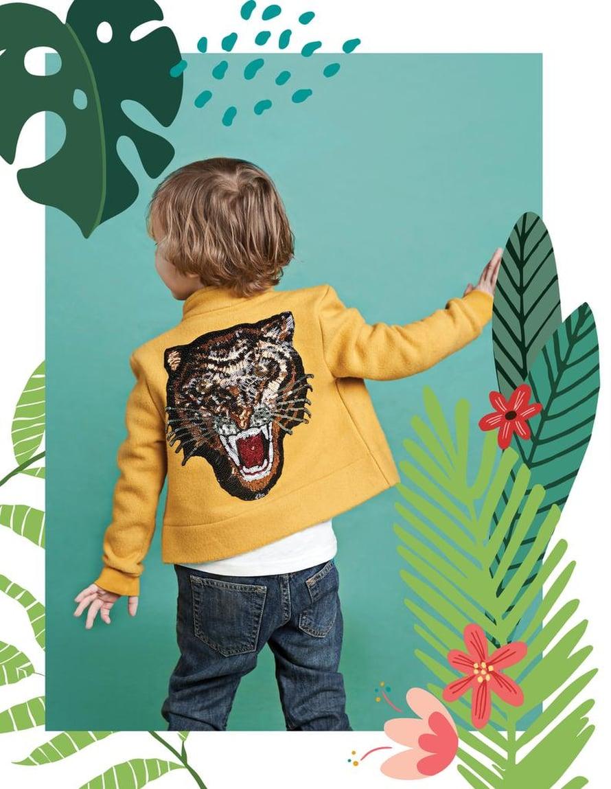 16 Lasten takki tiikeriapplikaatiolla