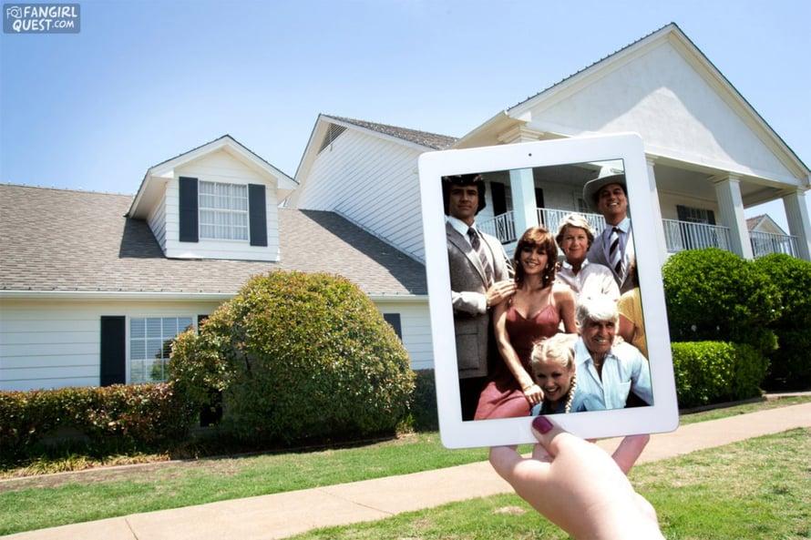 """Dallas, Texas. """"Kävimme Southfork-ranchilla, jossa oli kuvattu Dallasin ulkokuvia. Oli hienoa! Oppaana oli nainen, joka oli tavannut Larry Hagmanin ja kaikki."""""""