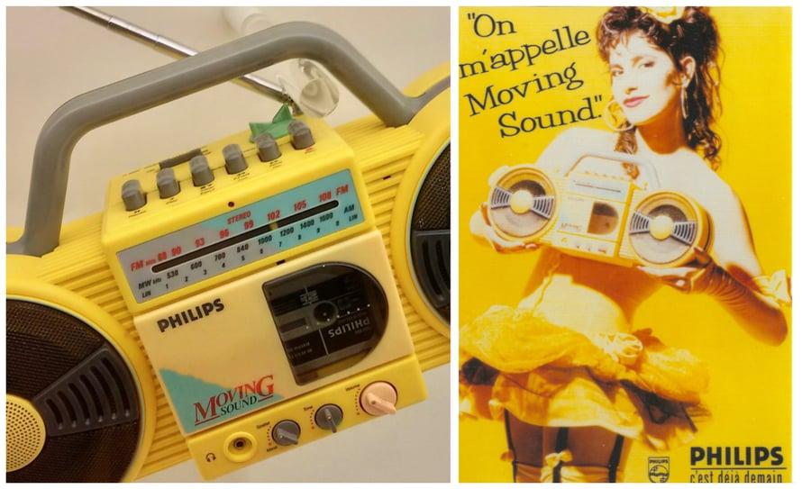 Philips-museossa tuli vastaan MINUN VANHA kasettisoittimeni, jee! Se sopi täydellisesti keltaiseen huoneeseeni. Ja ei, EN ollut niin coolin näköinen kuin tuo tipunkeltainen ranskatar.