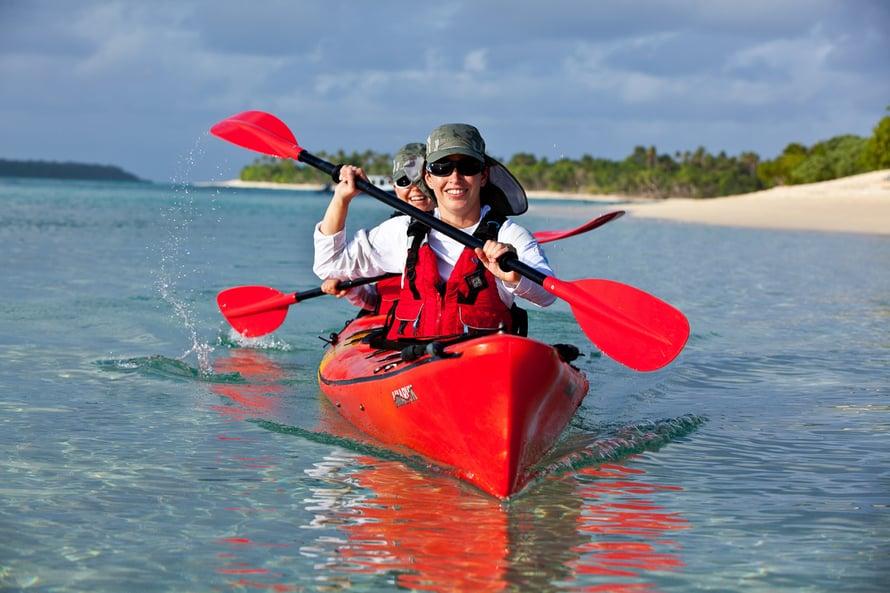 3Purjehdus on minulle tuttua, mutta melominen oli uusi tapa nauttia vesillä olosta. Tongan-matkan  aikana meloimme 150 kilometriä.