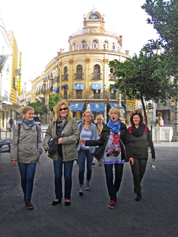 Tässä valloitetaan Jerez De La Fronteran kaupunkia Andalusiassa Etelä-Espanjassa.