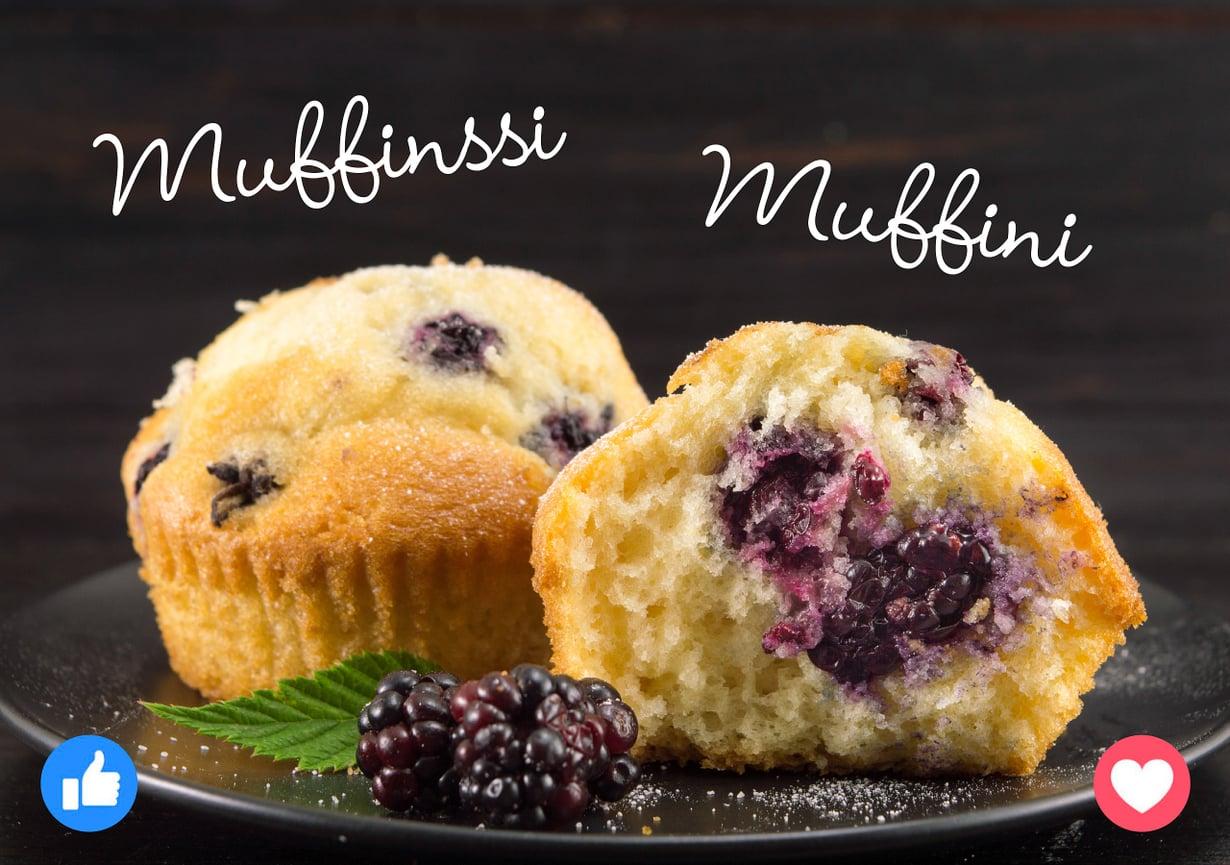 Muffinssi ja muffini maistuvat ihan yhtä hyviltä!