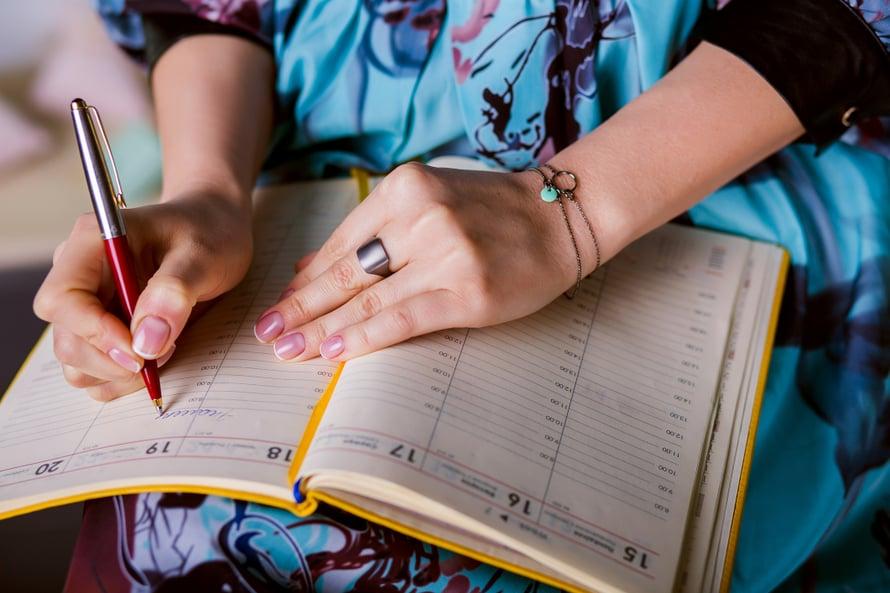 Kalenteri voi olla myös päiväkirjan korvike.