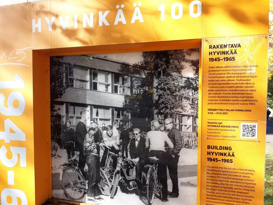 Hyvinkää täytti 100 vuotta, Suomi täytti 100 vuotta, Hyvinkään Yhteiskoulu täytti 100 vuotta.