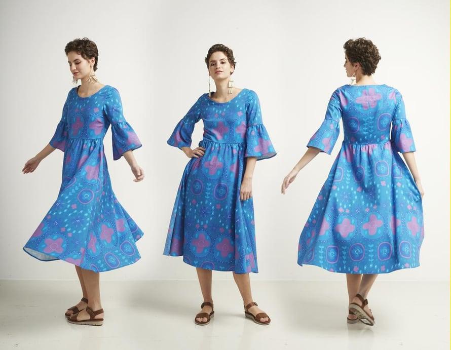 8 Leveähelmainen Auroora-mekko