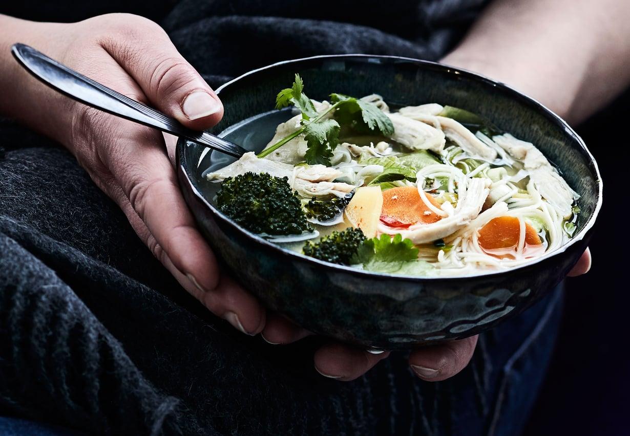 Hyvän olon ruuassa on lämpöä, makua ja reilusti kasviksia.