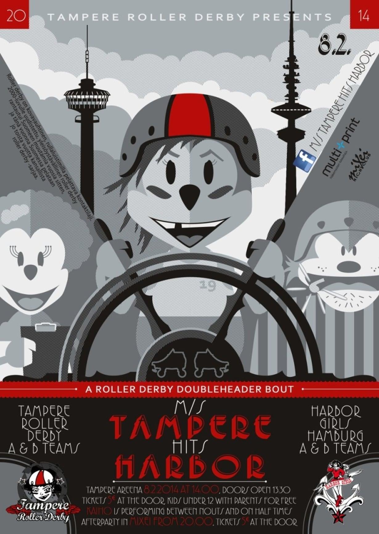TampereRollerDerbyHarbor-juliste