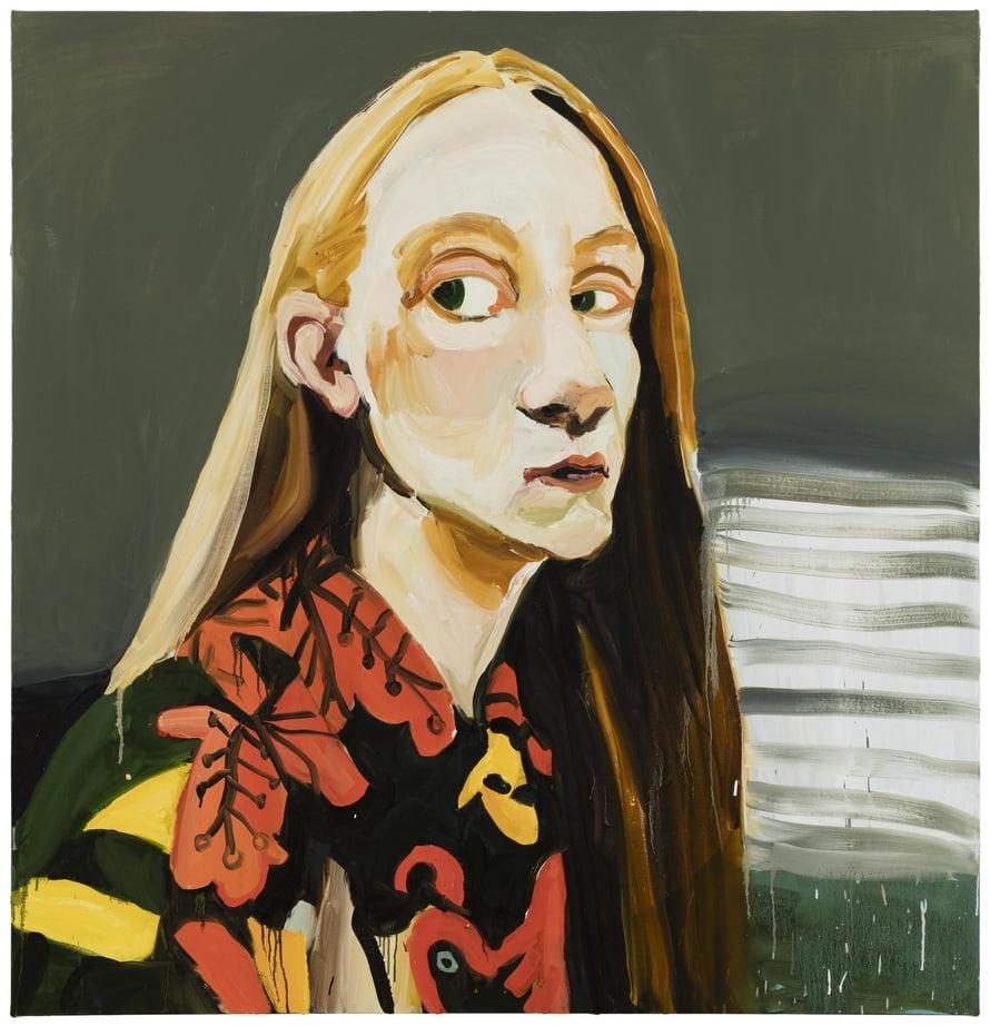 Jenni Hiltusen uusin omakuva Passing on tältä vuodelta.  Se oli helmikuussa esillä Galerie Fors blomissa Helsingissä.